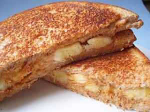 PB and Banana Sandwich