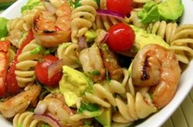 avocado-shrimp-pasta-salad